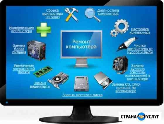 Ремонт Компьютера с выездом Мастера на дом и в орг Новый Уренгой