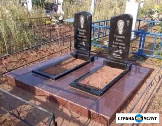 Установка памятников, благоустройство на кладбище Красноярск