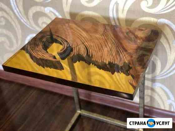 Изготовление мебели из массива и эпоксидной смолы Петропавловск-Камчатский