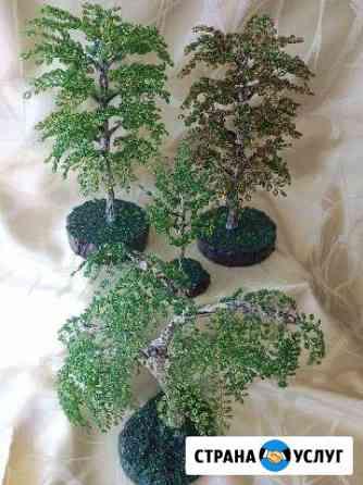 Изготовление цветов и деревьев из бисера Ноябрьск