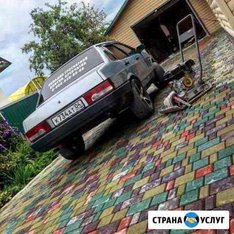 Укладка тротуарной плитки брусчатка Горно-Алтайск