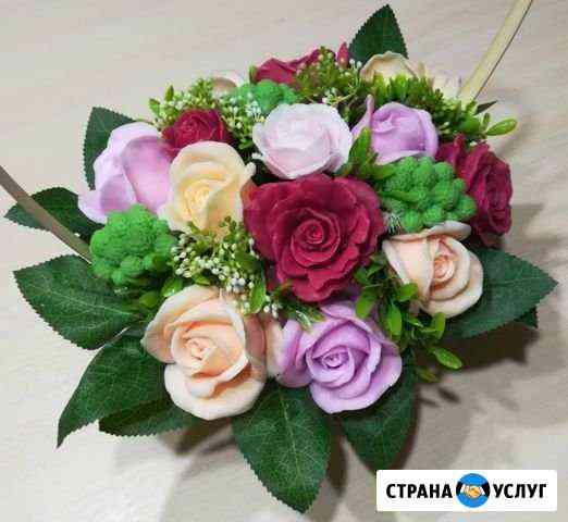 Букеты и корзины с цветами из мыла Архангельск