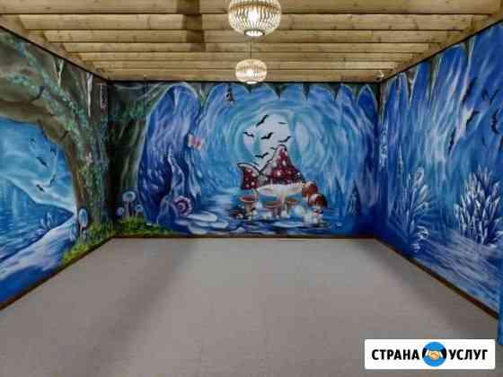 Художественная Роспись стен Мебели Владимир