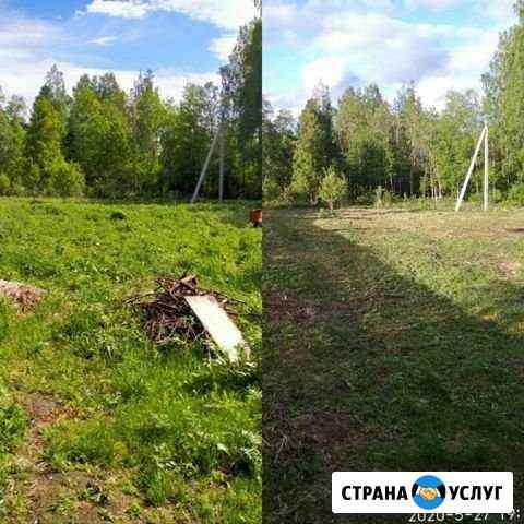 Покос травы Томск