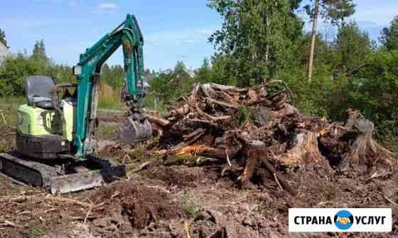 Миниэкскаватор,планировка,выкорчевка Северодвинск