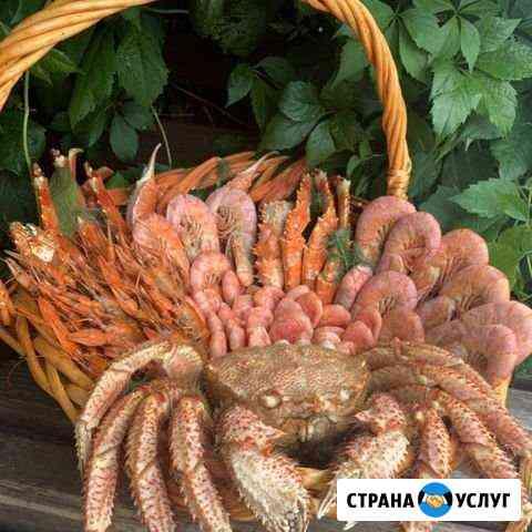 Подарочная корзина/коробка из морепродуктов Кемерово
