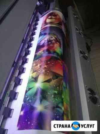 Интерьерная печать на плёнке баннере и баннерной с Тюмень