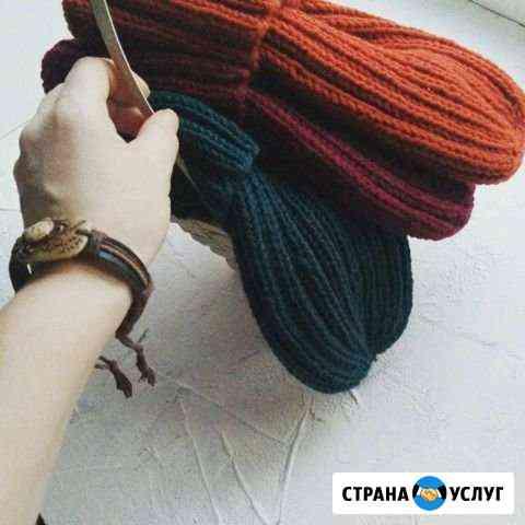 Вязаные шапки шарфы снуды Омск