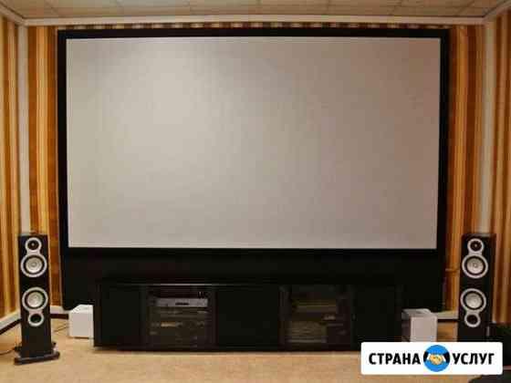 Установка домашних кинотеатров в загородных домах Санкт-Петербург