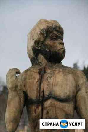 Скульптура из дерева, садово-парковая скульптура Челябинск