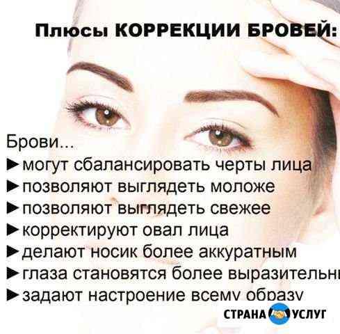 Архитектура и коррекция бровей Славянка