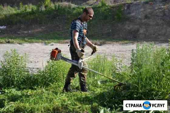 Покос травы,Стрижка газона Брянск