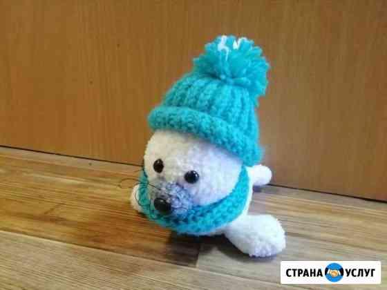 Вязаные игрушки и пледы Рыбинск