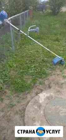 Покос травы триммером Кузнецк