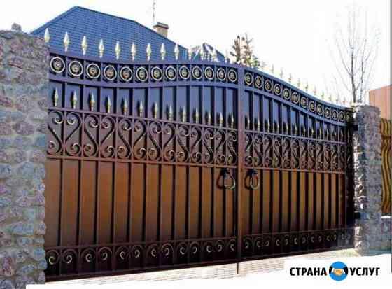 Ворота с элементами ковки Брянск