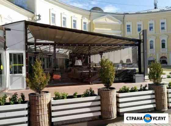 Мягкие окна из полиуритана для кафе и беседок Нариманов