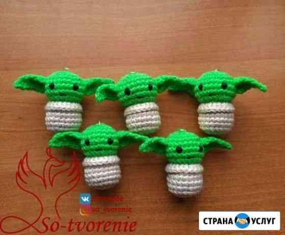 Вязаные игрушки и брелоки на заказ Челябинск