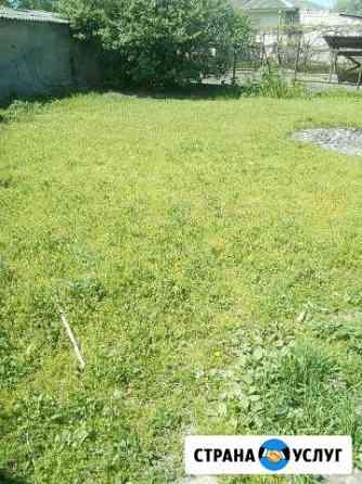 Покос травы тримером Майский