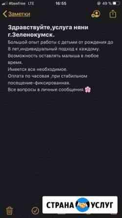 Няня Зеленокумск