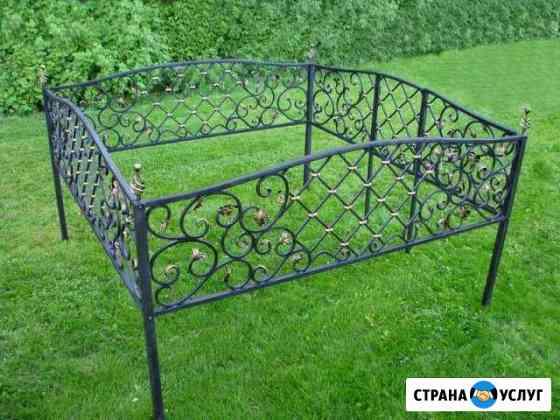 Кованые могильные оградки Томск
