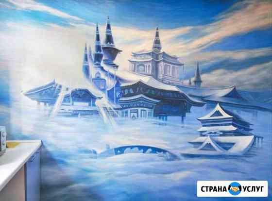 Роспись стен Евгения Боханова Калининград
