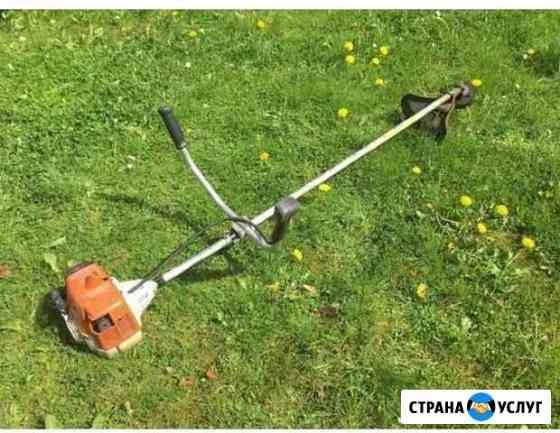 Покос травы, выезд за город Великий Новгород