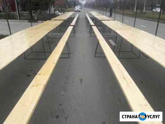 Прокат новых палаток (лаковые широкие столы) Владикавказ