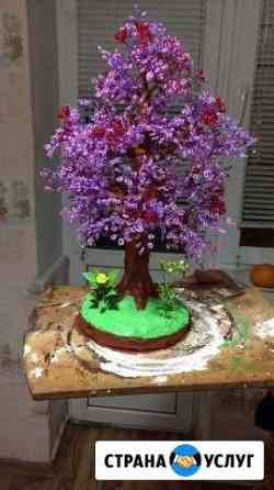 Деревья из бисера, ручная работа Махачкала