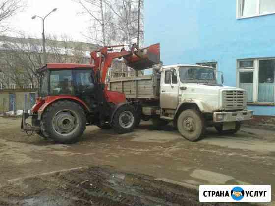 Вывоз мусора снега услуга самосвалов трактор Киров
