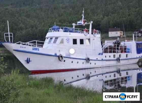 Аренда катера, часовая и суточная на озере Байкал Выдрино
