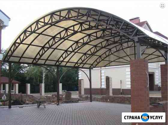 Навесы, козырьки, ангары, металлоконструкции Калининград