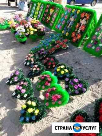 Памятники, цветы искусственные, веночки, корзинки Калач-на-Дону