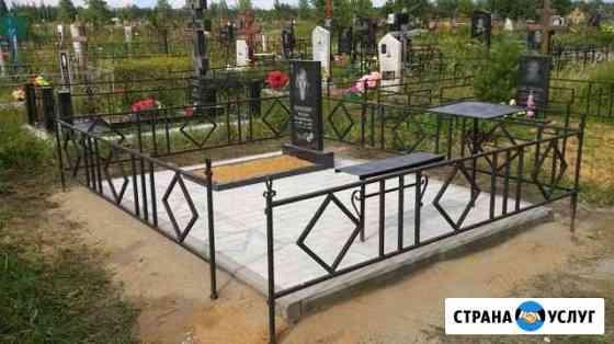 Благоустройство могил, уборка, изготовление памятн Липецк