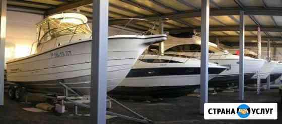 Хранение катеров и лодок в цеху Новосибирск