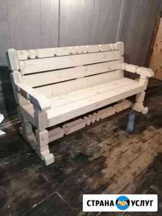 Уличные скамейки Сатинка