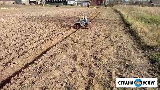 Вспашка земли культиватором, кошение травы тримеро Иркутск