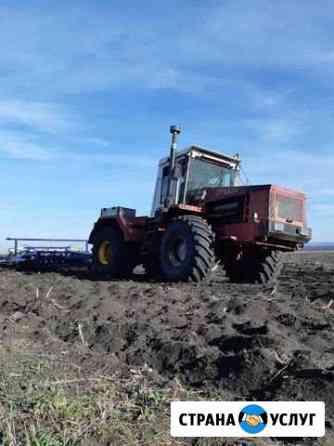 Пахота. Обработка почвы. Вспашка земли Черкесск