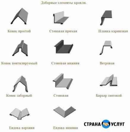 Доборные элементы кровли, водосточные системы Калининград