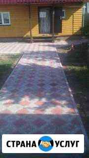 Укладка брусчатки и тротуарный плитки Ижевск