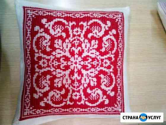 Вязанные подушки Аксай