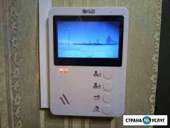 Аудио-видео домофоны, монтаж, ремонт Новосибирск