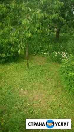 Покос травы триммером Товарково