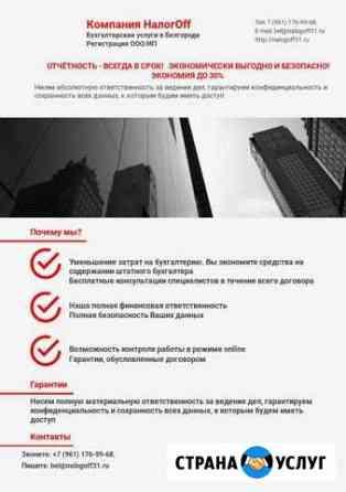 Профессиональные бухгалтерские услуги для бизнеса Белгород