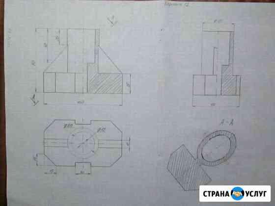 Помогу, объясню чертежи, AutoCad Помощь репетитор Тамбов