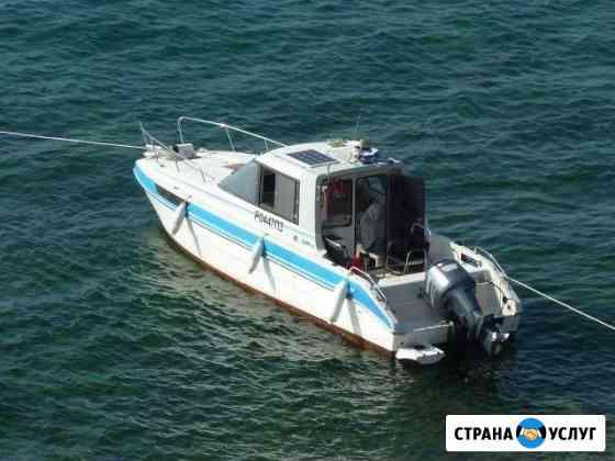 Аренда катера (тримаран), рыбалка, отдых на остров Владивосток