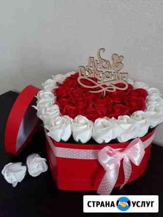 Подарок на праздник букет из мыльных роз Брянск