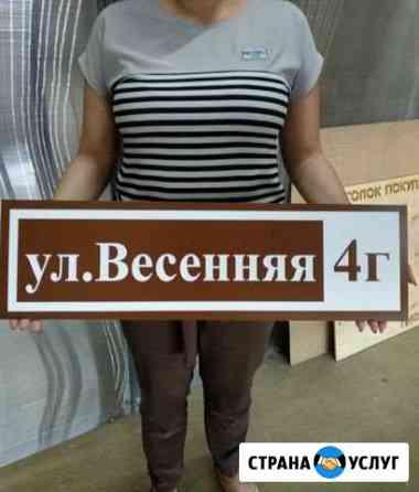 Адресные таблички Барнаул