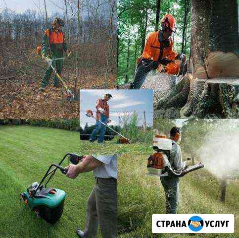 Покос травы уборка участков и пашка огорода Калуга