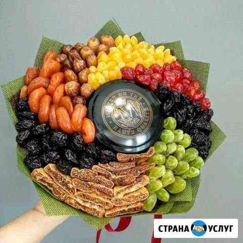 Букеты из сухофруктов, фруктов, мужские букеты Ульяновск