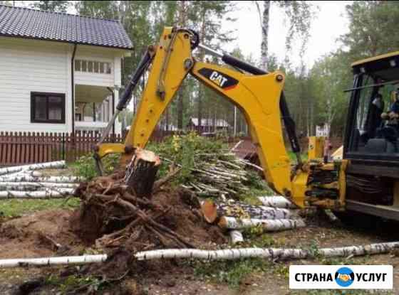 Выкарчевка старых пней и корней Курск